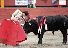 """Sebastián Castella ejecutando """"el teléfono"""""""