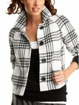 Gap Cropped plaid jacket