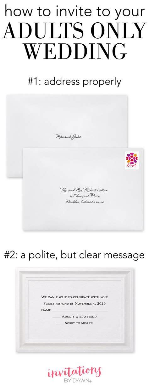 adults  wedding invitation wording invitations  dawn