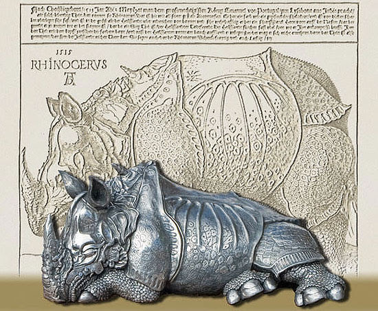 The rhinoceros of Dürer, composition by Bob Warren