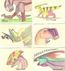 Hadrosaur ACEOs round two!