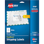 """Avery Shipping Labels, TrueBlock Technology, Permanent Adhesive, 3-1/2"""" x 5"""", 100 Labels (8168)"""