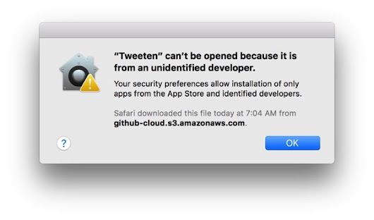 How to open a Mac app from an unidentified developer