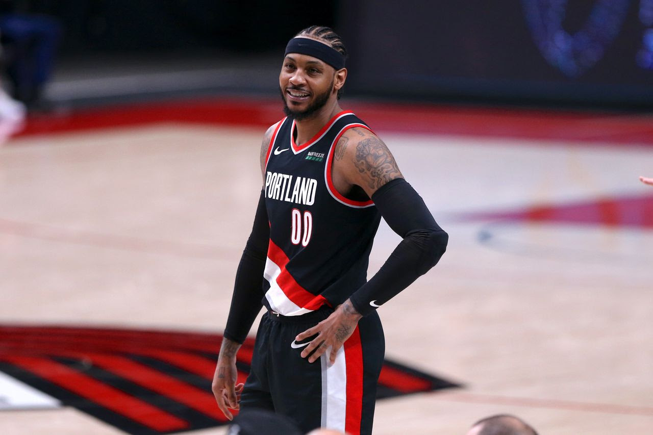 Trail Blazers star Carmelo Anthony among finalists for NBA's Kareem Abdul-Jabbar Social Justice Champion award