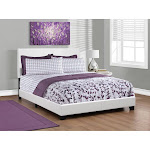 Monarch Specialties Mount Faux Leather Upholstered Bed