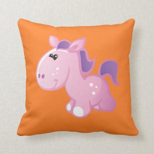 Cute Pony Throw Pillow