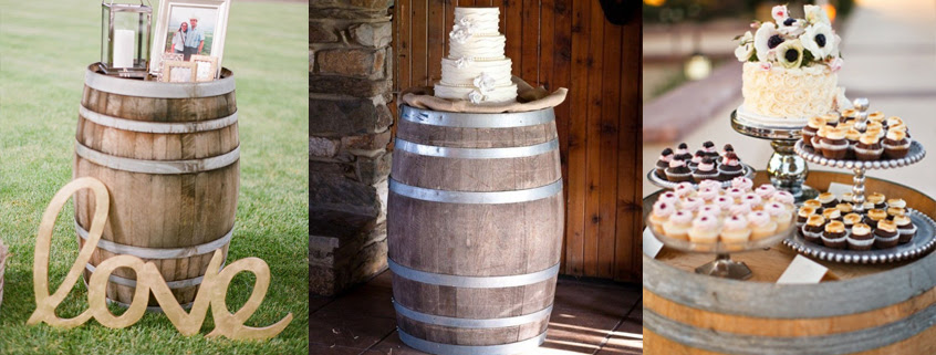 Rent Wine Barrels As Rustic Wedding Decor