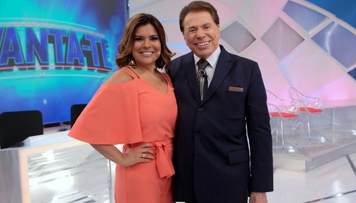 Mara Maravilha e Silvio Santos (Foto: Divulgação/SBT)