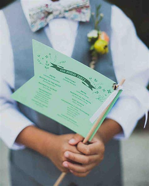 Unique Wedding Ceremony Program Ideas