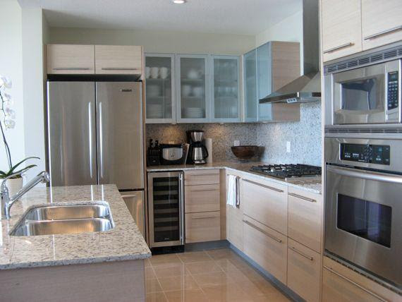 Long Narrow Kitchen L Shaped Interior Home Page