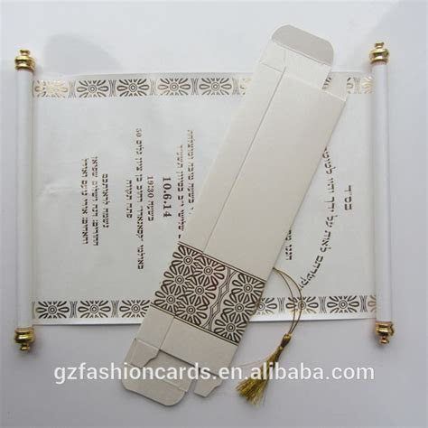2015 Wholesale Luxury Wedding Box Scroll Invitation, View