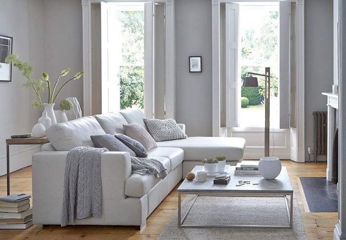 Ruang Tamu Warna Biru Pastel | Ide Rumah Minimalis