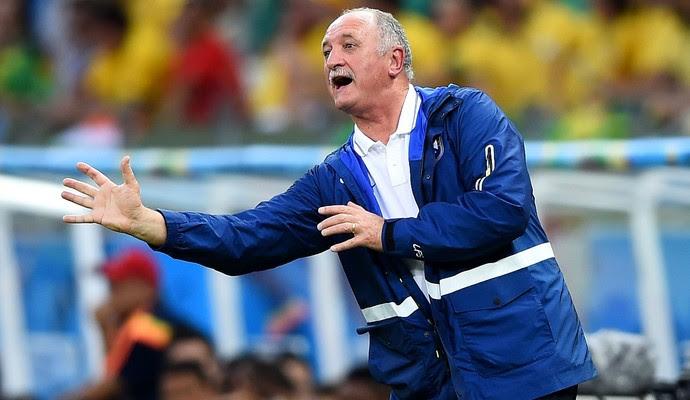 Luiz Felipe Scolari Felipão jogo Brasil x Colômbia (Foto: Getty Images)