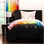Crayola Cosmic Burst Comforter and Shams - Rainbow (Twin)