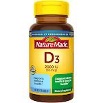 Nature Made Vitamin D3, 2000 IU, Liquid Softgels - 90 count