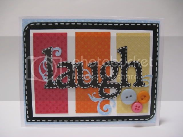 Cricut Wall Decor And More Projects : Courtney lane designs laugh card made using wall decor
