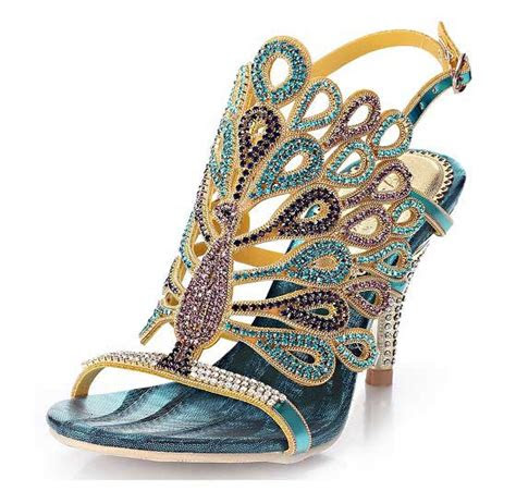 exciting unique rhinestone prom shoes