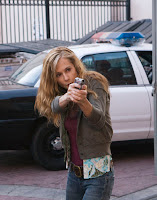 Yep, Grace, a cable detective, is a little trigger happy