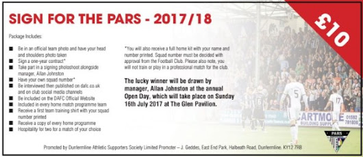 Sign for the Pars for 2017/18 - Relaunched! - Pars Supporters Trust