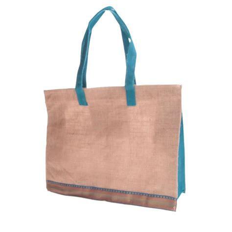 Fair Trade Jute Shopping Bag   Ribbon Design » £5.99