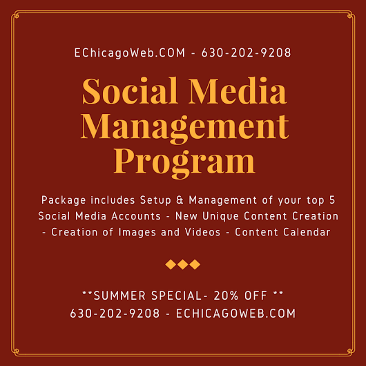Social Media Management Services SPECIAL