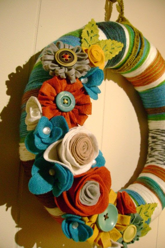 felt wreath... mc