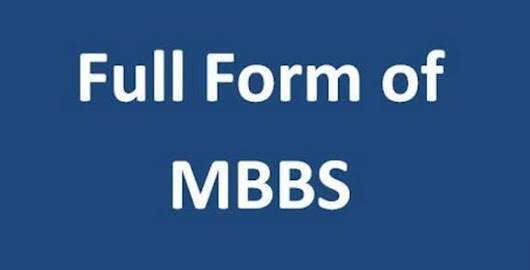 MBBS Full Form | Windows