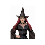 Fun World Taffeta Witch Hat, Black