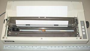 English: Epson Wide Carriage 9-pin printer - w...