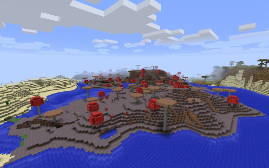 Land-Bound Mushroom Island - Minecraft Seed HQ