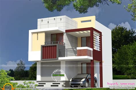 small double storied house kerala home design