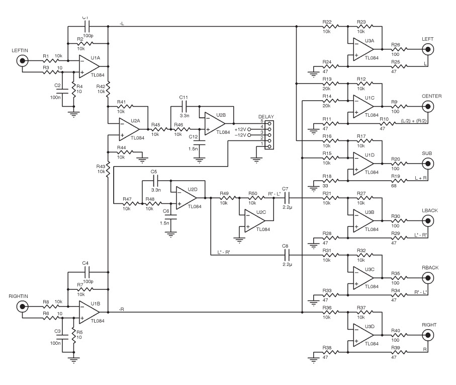 Dolby Circuit Diagram