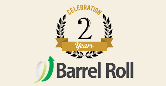 We're Two Years Old Today! - Barrel Roll