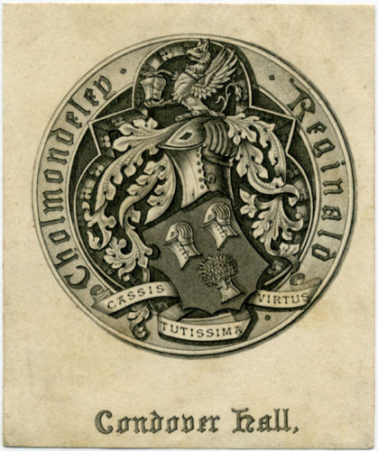 Cholmondeley of Condover Bookplate