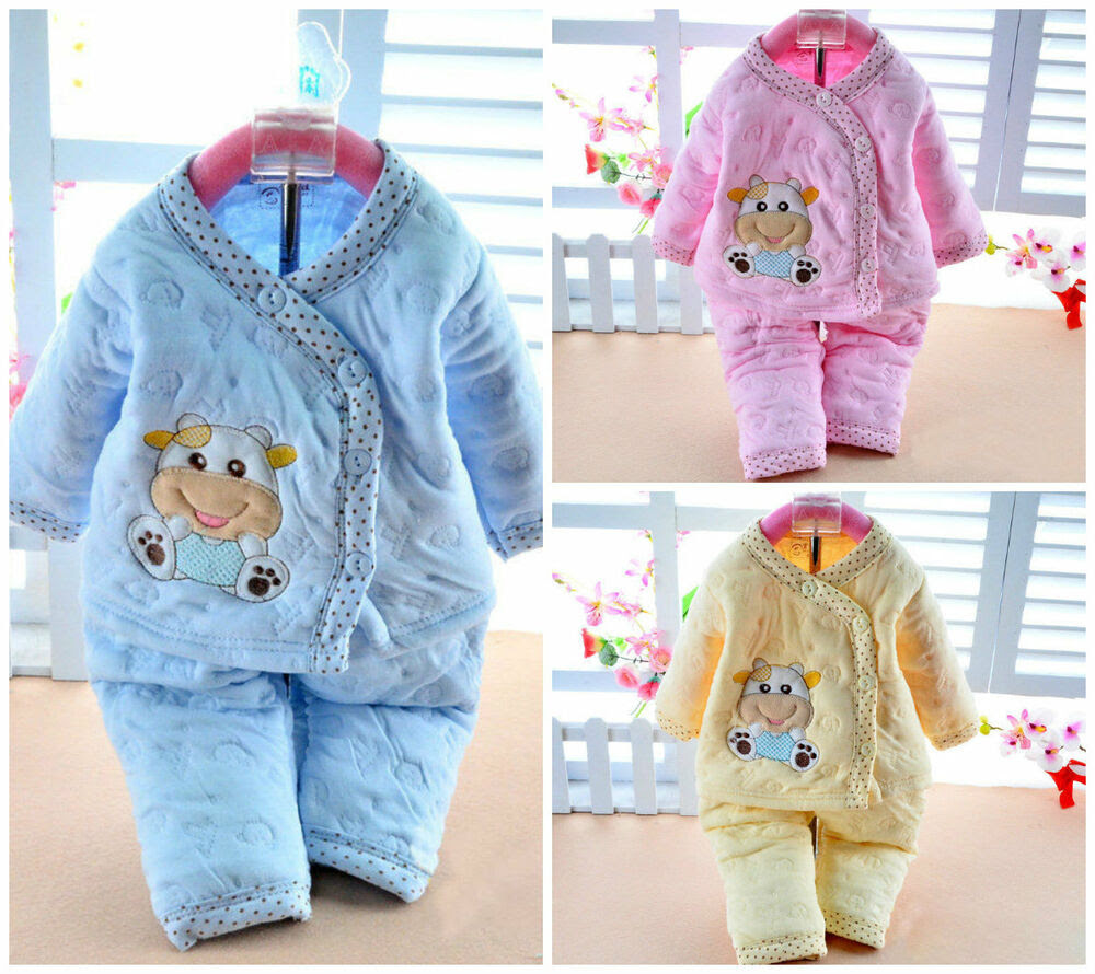 cotton warm 2 pcs newborn baby clothes girls boys winter