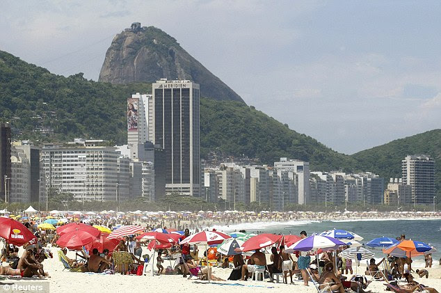 Room with a view: England's hotel will overlook Rio's world famous Copacabana beach