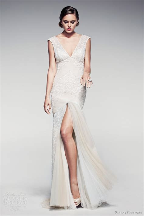pallas couture springsummer  fleur blanche bridal