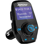 Mpow BMBH120AB T3.0 FM Transmitter with Large LCD Display