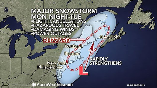 Major Blizzard to Shut Down Boston, NYC Area Tuesday
