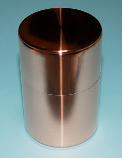 The theme day: metal, copper container for tea leaves, Kyoto