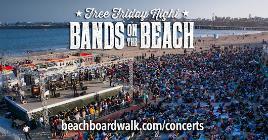 Santa Cruz Beach Boardwalk FREE Friday Night Bands on the Beach