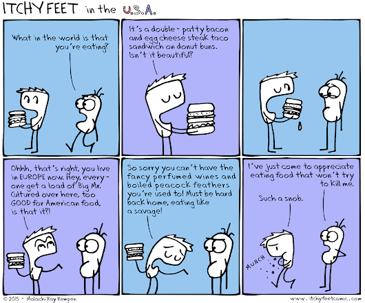 Itchy Feet: the Travel and Language Comic: One Man's Trash