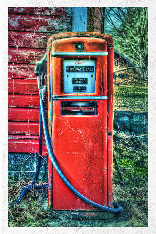 Old Gas Pump by Andrea Swiedler