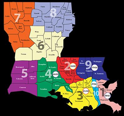 LGEs Regions Map