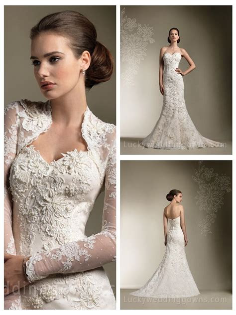Trumpet/Mermaid All Over Lace Sweetheart Wedding Dress