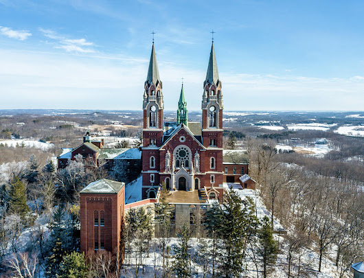 Holy Hill In The Snow by Randy Scherkenbach
