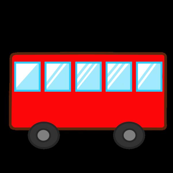 バスのイラスト かわいいフリー素材が無料のイラストレイン