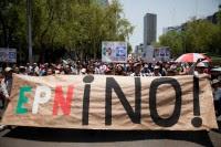 Miles protestan en contra de Peña Nieto. Foto: Eduardo Miranda