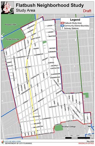DCP Flatbush Neighborhood Rezoning Study Area