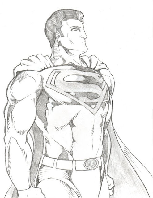 Superman - Daily pencil drawing